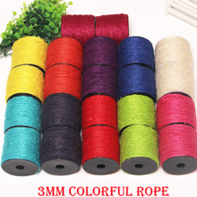 Natural Colored Jute Twine 3mm*50m Decorative Handmade Accessory Hemp Rope Bakers Hemp Twine String Craft Making DIY
