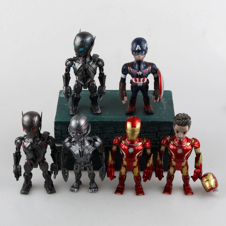 Avengers Action Figures Age Of Ultron Ironman Superman Action Figures 14cm Hot Toys Pvc Movie Figure Free Shipping<br><br>Aliexpress