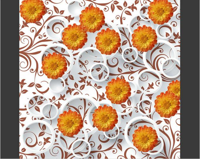 3d flooring Abstract chrysanthemum pvc wallpaper 3d floor tiles for living room 3d stereoscopic self adhesive wallpaper<br><br>Aliexpress
