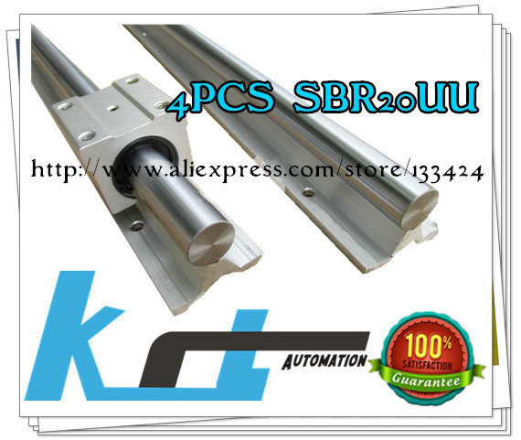 2pcs SBR20 -L 1850mm Linear shaft Support + 4pcs SBR20UUBearing Blocks<br><br>Aliexpress