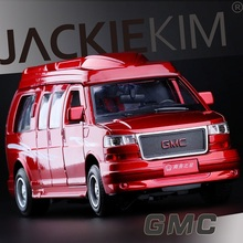 High Simulation Exquisite Collection Toys: Jackie Kim Car Styling GMC MPV Car Model 1:32 Alloy SUV car Model Fast&Fruious