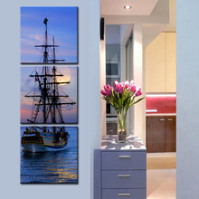 HD Oil Painting Sailing Ship Decoration Painting Home Decor On Canvas Modern Wall Art  Canvas Prints Poster Canvas Painting