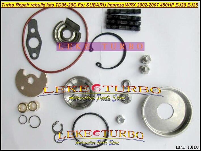 Turbo Repair Kits rebuild kit TD06 20G TD06-20G TD06-20GHW For SUBARU Impreza WRX 2002-07 MAX HP 450HP Engine EJ20 EJ25<br>