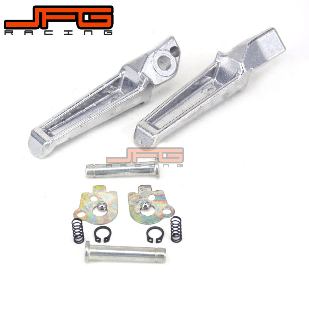 New Silver Rear Footrests Foot pegs for CB400 CBR600 CB1300 CB1000 CBR250 CBR600 CBR929 CBR954 VTR1000 VFR800 CB1300 Motorcycle
