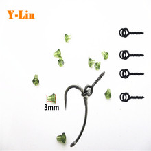 50pcs Carp fishing hook stoper with 25pcs boilie bait screw with round link loop easy run ring accessories of carp fishing