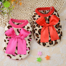 XXXS/XXS/XS/S Spring Fashion Cute Teacup Dog Clothes Puppy Vest Coral Soft Leopard Baby Pet Dogs Clothing Chihuahua Apparel(China)