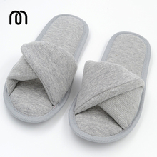 Millffy Japan's indoor home cotton slippers soft memory foam interior floor trailer open-toe home shoes