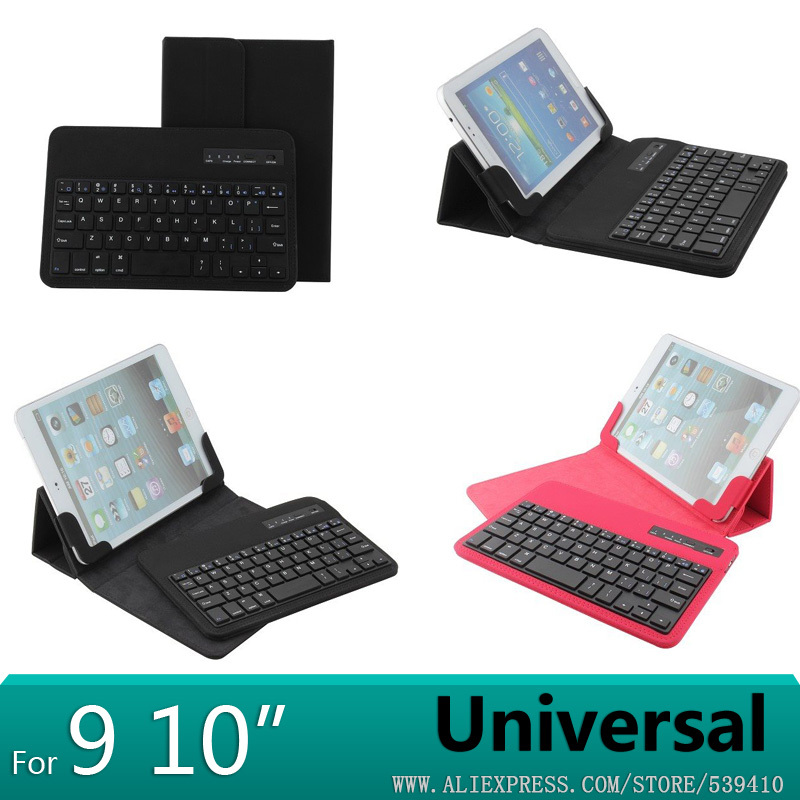 Universal Detachable Bluetooth Keyboard With Leather Case Stand For Cube Talk 9X U65GT support Russian keyboard<br>