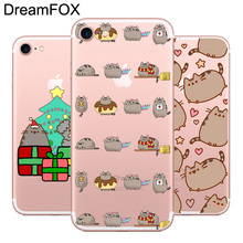 Buy DREAMFOX L485 Pusheen Cat Soft TPU Silicone Case Cover Apple iPhone 8 X 7 6 6S Plus 5 5S SE 5C 4 4S for $1.23 in AliExpress store