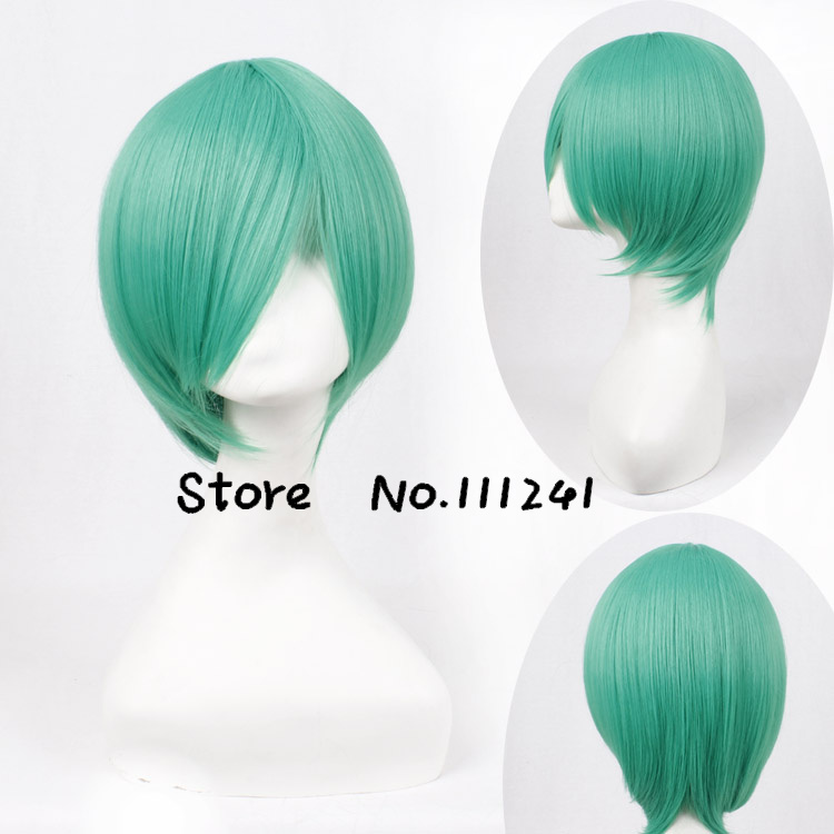 Top Quality Hitman Reborn/Fran Short Green Cosplay Anime Wig<br><br>Aliexpress