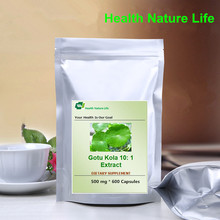 500mg 600 CAPS - Centella asiatica Herb Extract ,Gotu Kola 10: 1 Extract,For Anxiety, Depression(China)