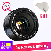 Buy YONGNUO YN50mm Lens Fixed Focus Lens EF 50mm F/1.8 AF/MF Lense Large Aperture Auto Focus Lens Canon DSLR Camera for $49.50 in AliExpress store