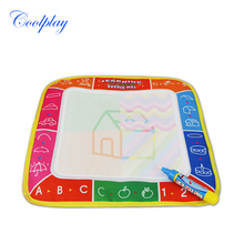 Coolplay 29X29cm CP2311 4 color Water  Drawing Toys Mat Aquadoodle Mat&1 Magic Pen/Water Drawing  board/baby play mat
