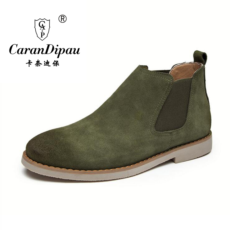 Classical Vintage Chelsea Boots Crepe Bottom Casual Platform High Mens Shoes Botas Handmade All-matching Kanye West Boots casual<br>