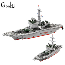 GonLel KAZI 228pcs 84005 Military Ship Model Building Blocks Kids Toys Imitation Gun Weapon Equipment Technic Designer toys(China)