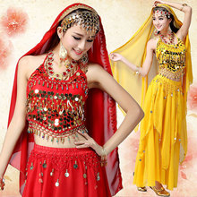 3pcs Set Egyption Egypt Belly Dance Costume Bollywood Dance Costume Indian Dress Bellydance Performance Dancing Costume Sets