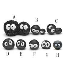 8pcs/set My Neighbor Totoro Dust Elves Fingure Toys Totoro Series Black Briquettes Mini Resin Toy Figures Decor Crafts(China)
