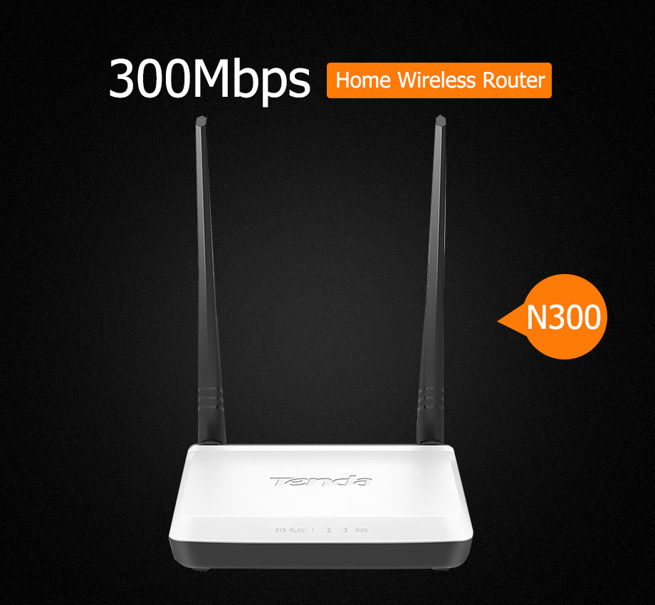 Tenda N300 300Mbps Wireless WiFi Router, Repeater/Router/WISP/ Client+ AP  Bridge Mode,IP QoS, Multi Language Firmware,Easy Setup