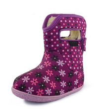 New Winter Children Shoes For insole Length 13-17cm Soft Anti-slip Waterproof Boots Kids Snow Boots Brand Baby Girls Boys Boots