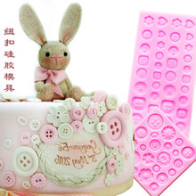 2pcs HOT DIY silicone cake molds cake decorating tools Flower Buttons fondant mold chocolate mould kitchen cake tools FM1090