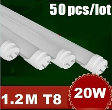 Wholesale 50pcs/lot High Quality CE ROHS 1200mm T8 18W Led Tube Light SMD 2835 Epistar 2200LM Lamps