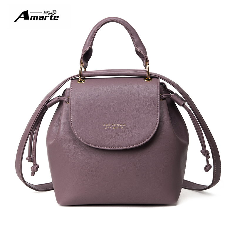 Amarte Brand Mini Backpack Women Solid Backpacks Fashion Pu Leather Women Shoulder Bag Ladies Small Backpack Mochilas Feminina<br><br>Aliexpress
