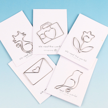5PCS Cartoon Animal Cat Bird Flowers Shape Paper Clip Metal Clip for Books Stationery School Supplies Papelaria
