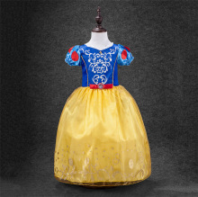 Fashion cheap princess girls party dress kids infant snow white costume