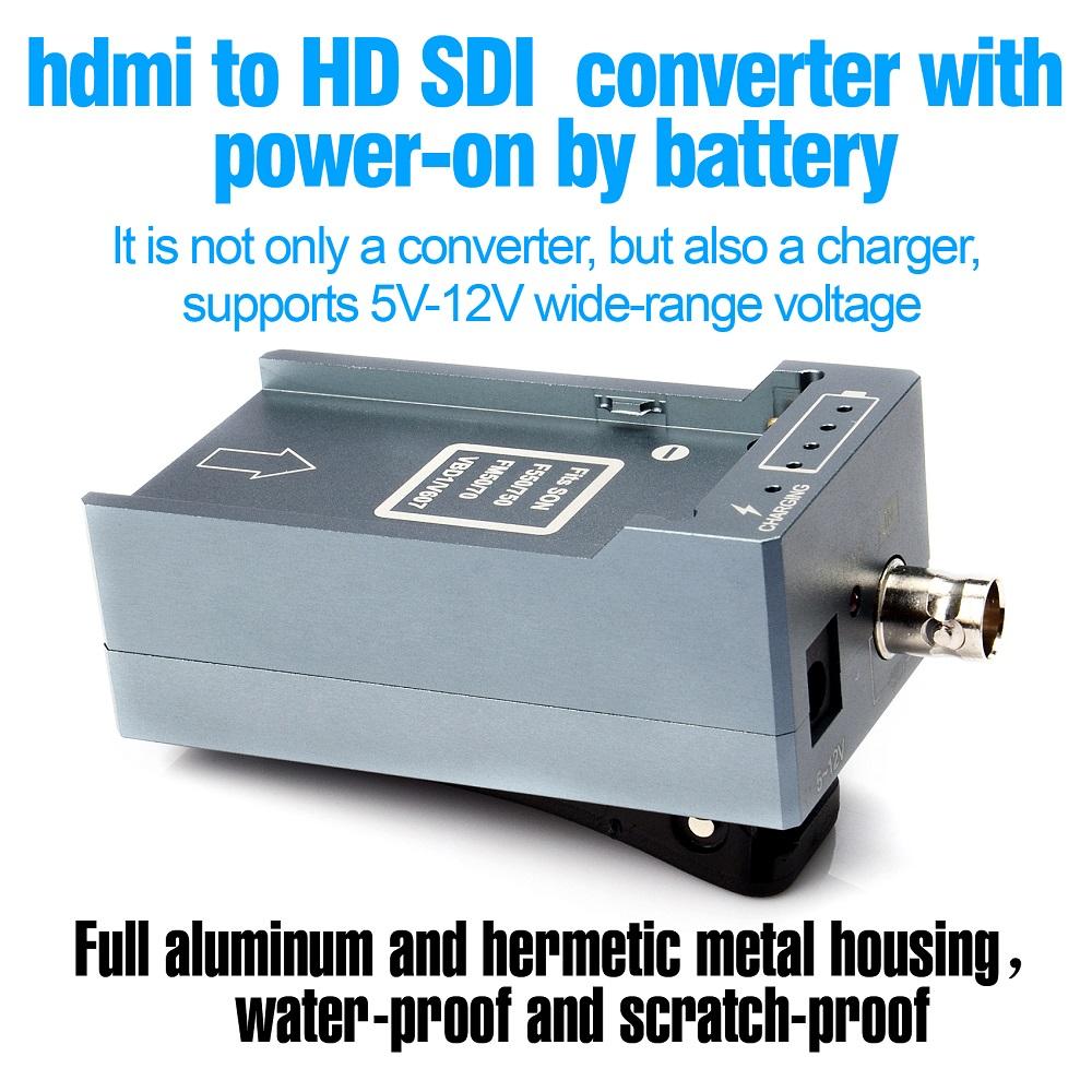 HSV191Bat HDMI to SDI Converter with Battery Charging 1080p Mini HDMI to SD-SDI HD-SDI 3G-SDI Adapter Converter (11)