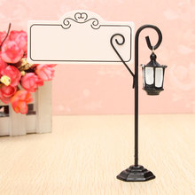 Wedding Miniature Vintage Streetlight Table Marker Holder Clips Easel Table Number Place Name Photo Card Stand