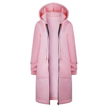 Buy Solid Color Hooded Coat 2017 Autumn Winter Long Cardigan Women Fall Warm Thick Poncho Female Zipper Fashion Coats Plus Size for $20.97 in AliExpress store
