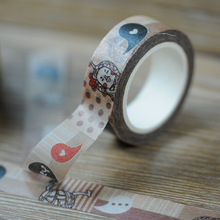 New 1x Taiwan Culture Cartoon Elements Kawaii Low Viscosity Japanese Washi Tape Decorative Masking Tape 10m Papeleria(China)