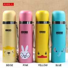 500ML Lovely Animal Pattern Vacuum Thermos Cup For Women Kids water Bottle Stainless Steel Water Bottle garrafa termica Child