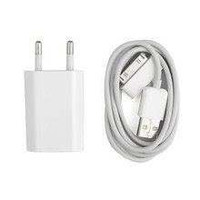 GEUMXL Original quality Power Adapter USB Charger + 30pin USB Charger charging cable for iPhone 3GS 4 4S iPad 2 3 iPod nono(China)