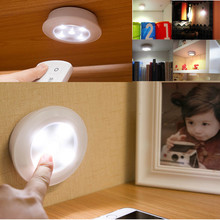 Wireless Remote Control Lights LED Touch Night Light Creative Bedside Wardrobe Lights Decorative Cabinet Lights luminaria *30(China)