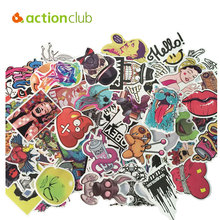 Actionclub 150pcs/set  Mixed Random Stickers Stickers For Skateboard Laptop Luggage Guitar Travel Case sticker Car Kids DIY Toys