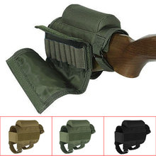 Portable Adjustable Tactical Buttstock Rifle Cheek Rest Pouch Holder with Ammo Carrier Case Rifle Ammo Round Cartridge Bag(China)
