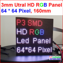 2 in 1 3mm RGB led panel,high resolution, 64x64,192mm * 192mm,black leds,smd full color 1/32s indoor p3 led display panel(China)