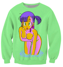 New Arrivals Bulma Sweatshirt vibrant jumper animated show Dragon Ball Z Characters Cartoon Sweats Women Men Outfits plus size
