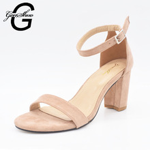 2017 Ankle Strap Heels Women Sandals Summer Shoes Women Open Toe Chunky High Heels Party Dress Sandals Big Size 42