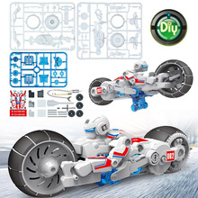 DIY Electronic Building Blocks Self Assembled Motorcycle Brine Power Battery Education intelligence Boy Gift Puzzle Toys Model