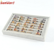 Jewelry Rings Display Tray Velvet About 50 Slot Case Jewelry Storage Box Amazing