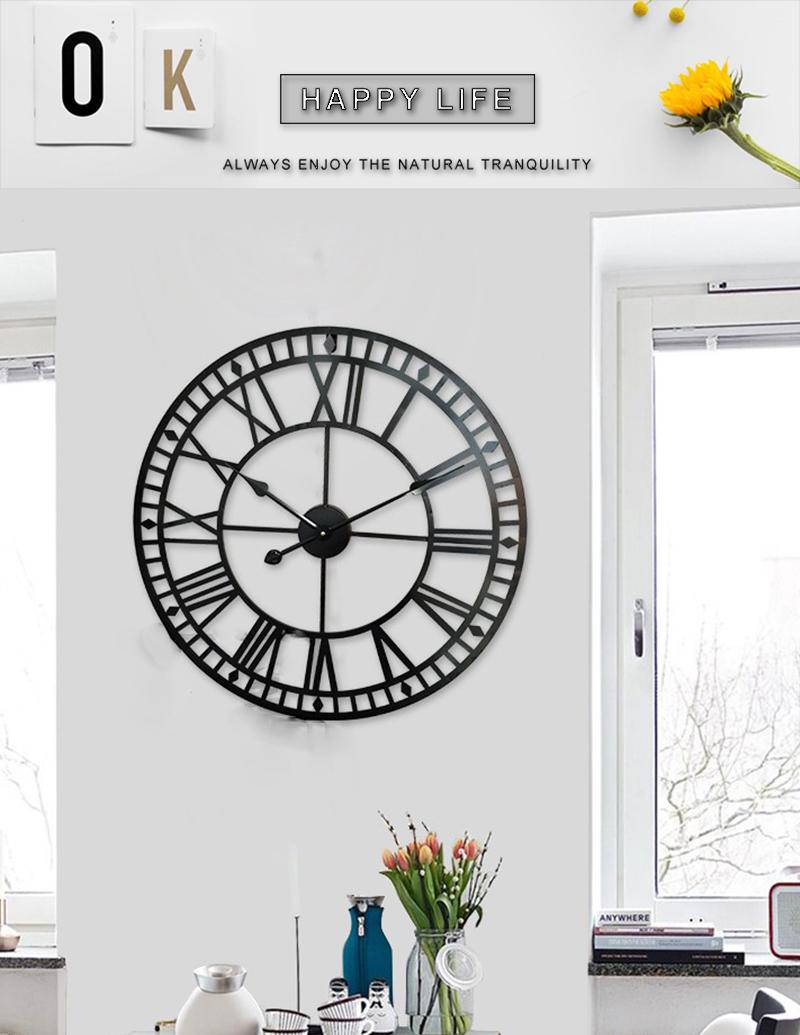 big clock wall mirror wall clock (11)