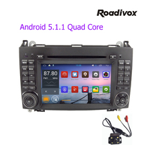 Pure Android 5.1 Quad Core 1024*600 Car DVD Player for benz B200 W169 W245 A160 Viano Vito v-class BT GPS stearing wheel ODB dvr