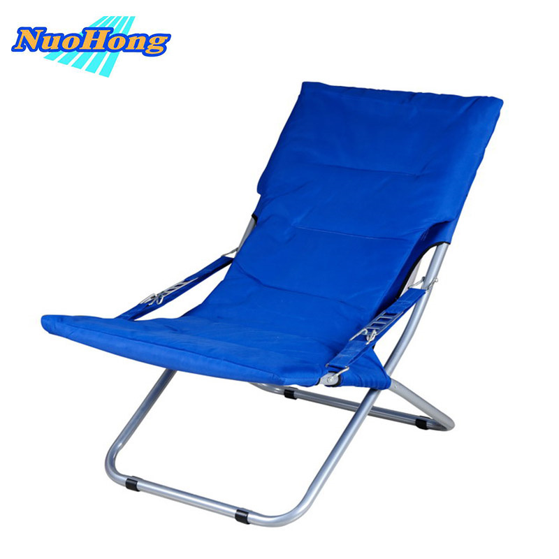 nuohong folding sun loungers fashion outdoor furniture tourist camping chairs stainless steel metalchina
