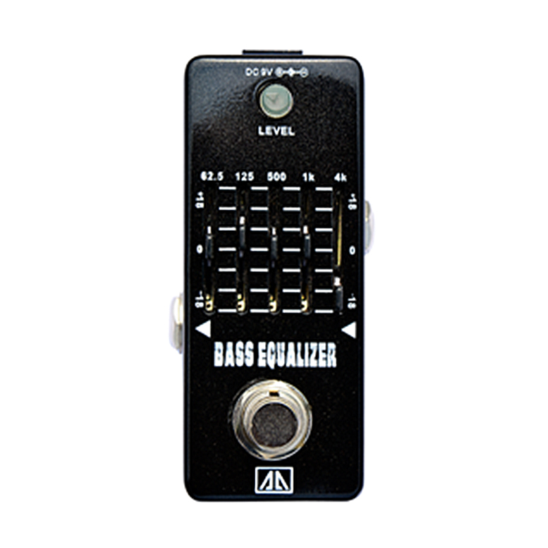 5-band Bass Equalizer Bass Effect Pedal Analogue Effects for Bass Guitar  True bypass 18dB gain range AA Series<br>