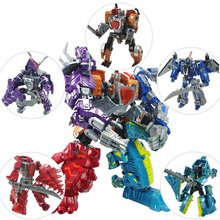 New 5 in 1 Transformation 4 Anime Devastator Dinosaur Brinquedos Dragon Robot Action Figures Classic Toys Boys Juguetes Gifts(China)