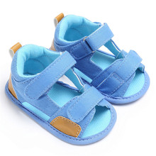 ROMIRUS Newborn Baby Boy Shoes Summer School Canvas Children Kids Boys Soft Sole Crib Infant Sandals High Quality(China)