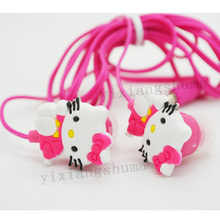 New High Quality Stereo Cartoon Earphone Super Bass Cute Hello Kitty Headphone For MP3 Player & Mobile Phone