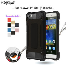 sFor Cover Huawei P8 Lite Case Shockproof TPU & PC Phone Cases For Huawei P8 Lite Cover P8 mini Armor Cover Coque WolfRule <(China)